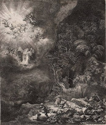 Rembrandt_Annunciation_to_the_shepherds